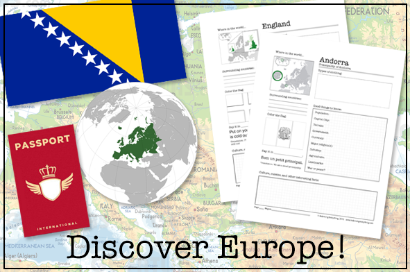 Discover Europe Notebooking Packet