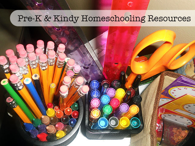 Pre-K and Kindy Homeschooling Resources