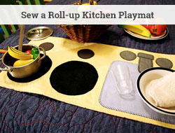 sew a roll up play kitchen mat