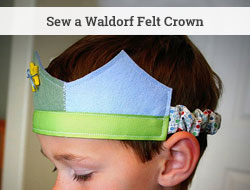 make a waldorf-like wool felt crown