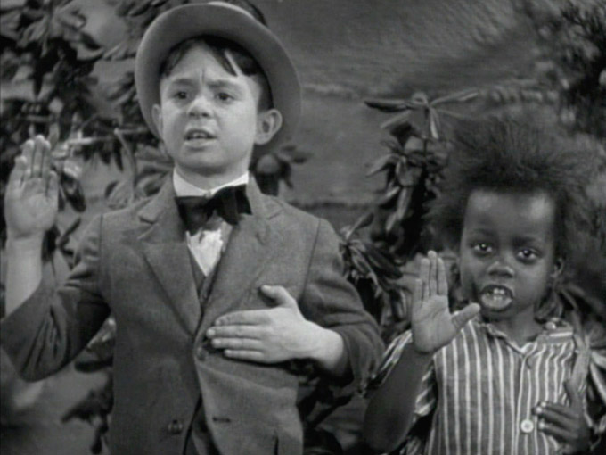 "Alfalfa and Buckwheat are like, ""Stop, don't climb that thing, lady."""
